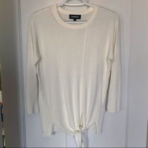 NWOT Express Tie Front Knit Sweater